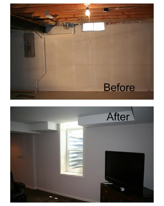 basement apartment before and after.  TriStar Construction Services